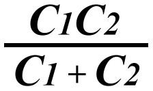 Формула для расчета емкости