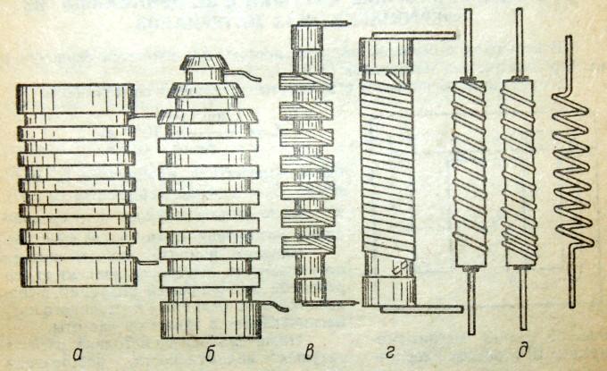 Конструктивно дроссели высокой частоты выполняются в виде однослойных или многослойных катушек